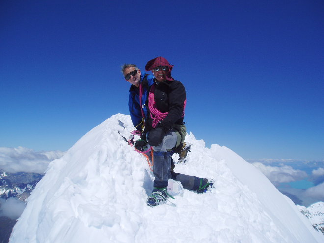 Mike and Keath on Top of Mt Cook